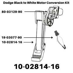 Show product details for Dodge Black to White Motor Conversion Kit - Model Year 2002-2009<BR>SKU's 10-02814-16, 19-03077-91, 80-03129-90