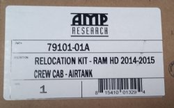 AMP Research Relocation Kit, Ram HD Crew Cab Air Tank  2014 thru 2015