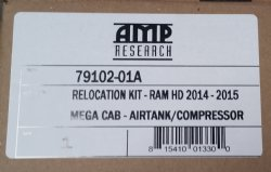 Show product details for AMP Research Relocation Kit (79102-01a)<BR>Ram HD Mega Cab Air Tank 2014 thru 2015