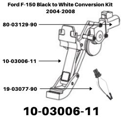 Ford F-150 Black to White Conversion Kit 2004-2008<BR>SKU's 10-03006-11, 80-03129-90, 19-03077-90