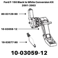 Ford F-150 Black to White Conversion Kit 2001-2003<BR>SKU's  10-03059-12, 80-03129-90, 19-03077-90