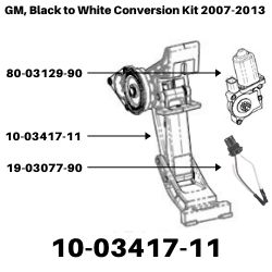 GM, Black to White Conversion Kit 2007-2013<BR>SKU's 10-03417-11, 19-03077-90, 80-03129-90