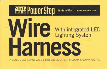 AMP Research Wire Harness with Integrated Lighting System